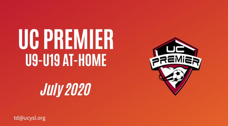 UC Premier July 2020 U9-U19 training program