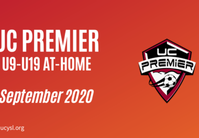 UC Premier September 2020 U9-U19 training program