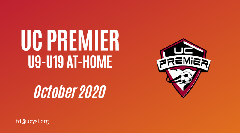 UC Premier October 2020 U9-U19 training program