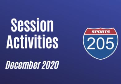 December 2020 training activities